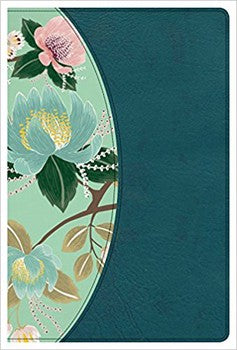 CSB Study Bible for Women - Teal Flowers LeatherTouch