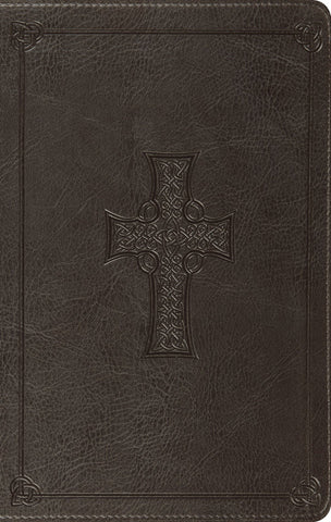 ESV Value Thinline Bible - Charcoal Cross