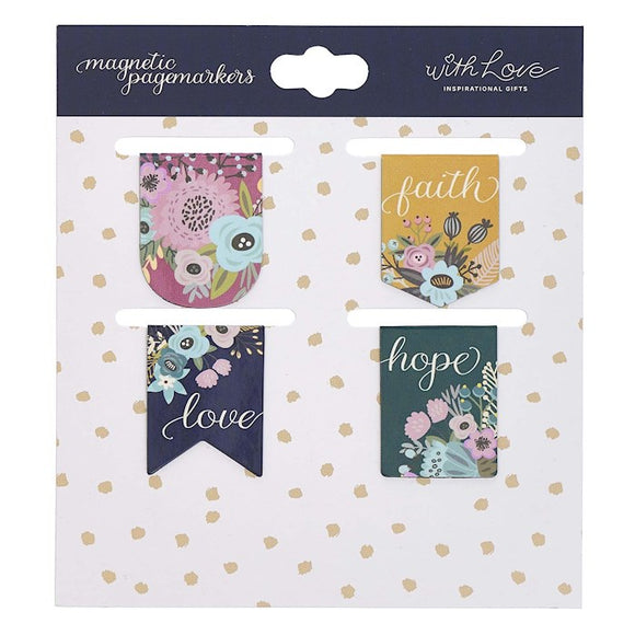 Magnetic Pagemarker Set of 4- Faith Hope Love
