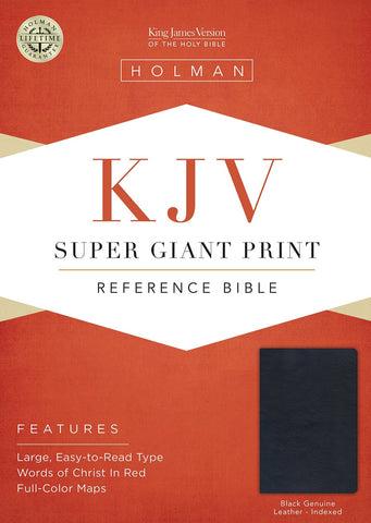 KJV Super Giant Print Reference Bible - Black (Indexed)