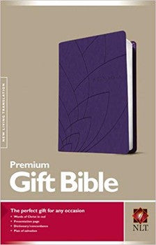 NLT Premium Gift Bible - Purple Petals