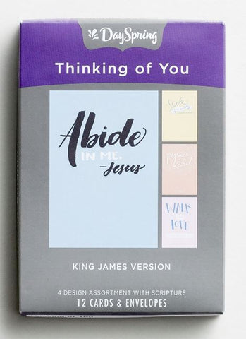 Boxed Cards - Thinking of You Bible Letters