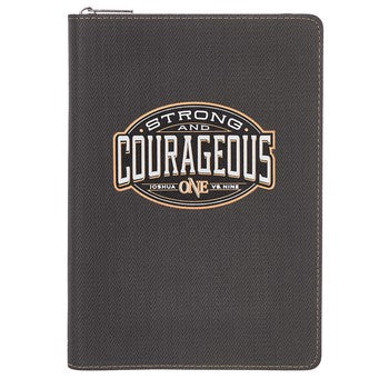 Journal - Strong and Courageous Zippered