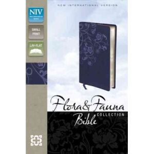 NIV Flora and Fauna Bible - Blue Floral