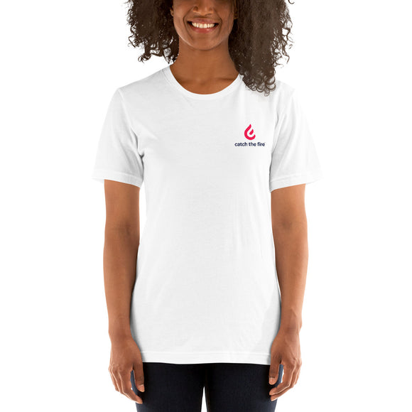 Branded Short-Sleeve Unisex T-Shirt White