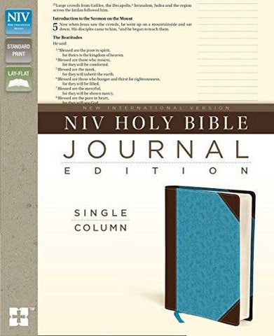 NIV Bible Journal Edition - Single Column