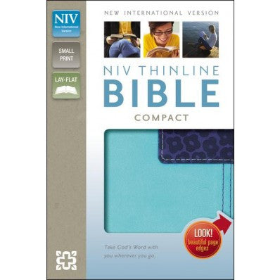 NIV Thinline Compact - Turquoise/ Blueberry