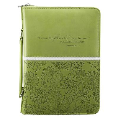 Bible Cover - Lime Floral Jer29:11