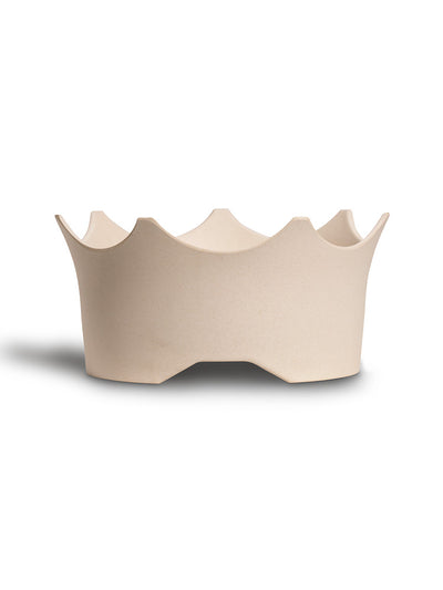 Crown Juwel Pet Bowl Natural White