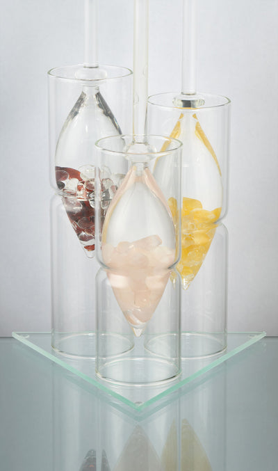 Display For 3 Vials - Glass