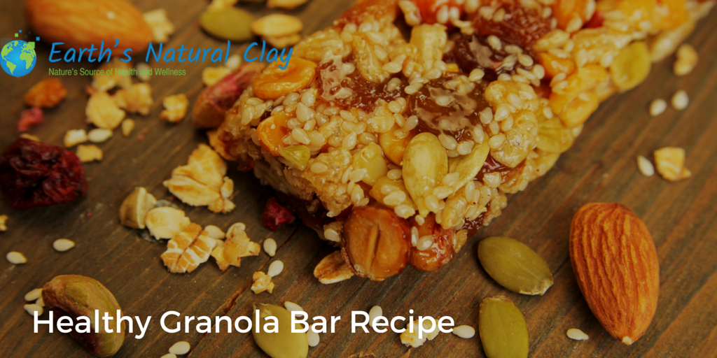 Granola Bar Recipe with Calcium Bentonite Clay