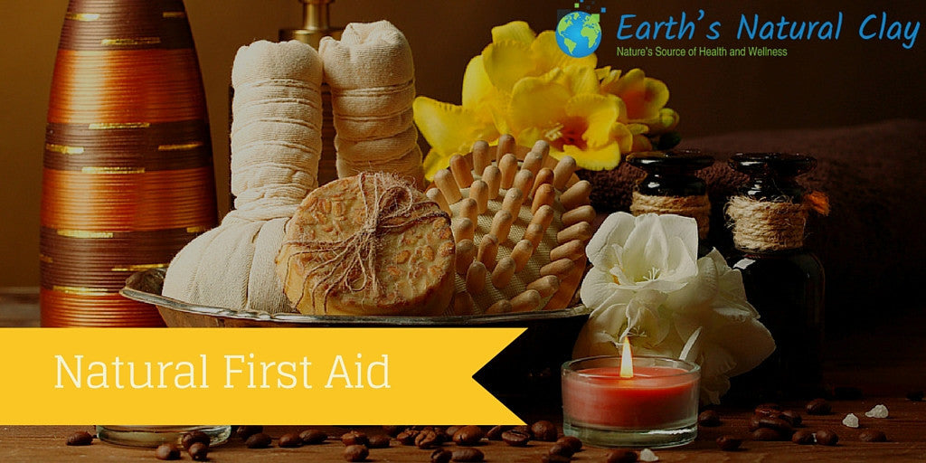 Natural First Aid with Calcium Bentonite Clay