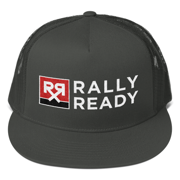 Rally Ready Logo Snapback Mesh Trucker Hat