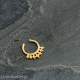 Tribal Sterling Silver Fake Septum Ring For Non Pierced Nose