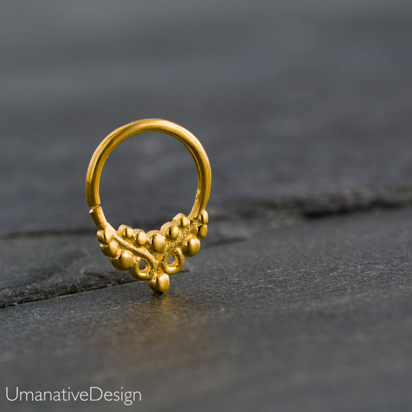 Gold Indian Tragus Earring