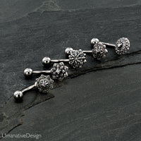 Beautiful Gift Package Of 5 Unique Best Selling Tribal Flower Mandala Belly Button Rings