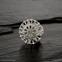 Sterling Silver Flower Ear Gauges
