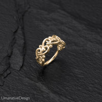 Beautiful 14k Solid Gold Indian Helix Hoop
