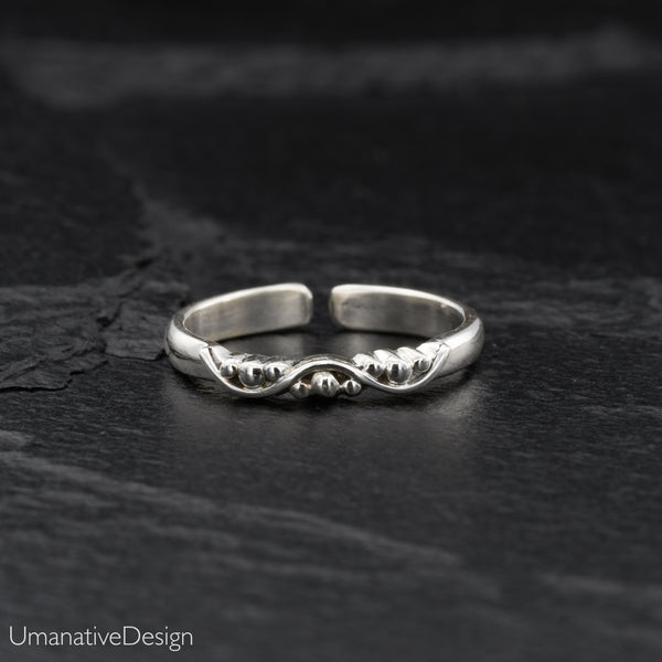 Thin Band Sterling Silver Toe Ring