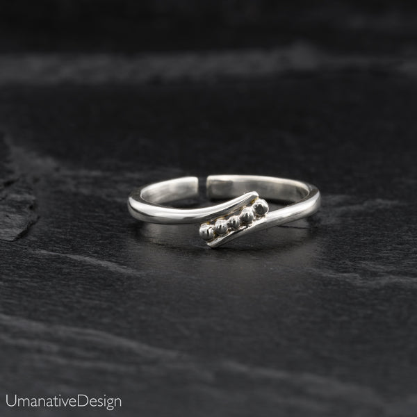 Fine Sterling Silver Toe Ring