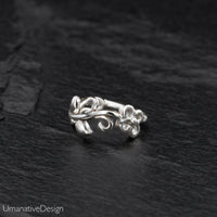 Sterling Silver Flower Nose Ring