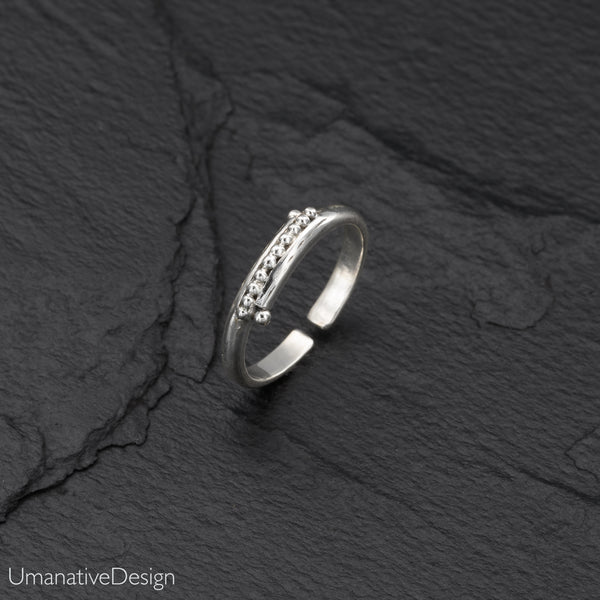 Fine Thin Band Sterling Silver Toe Ring