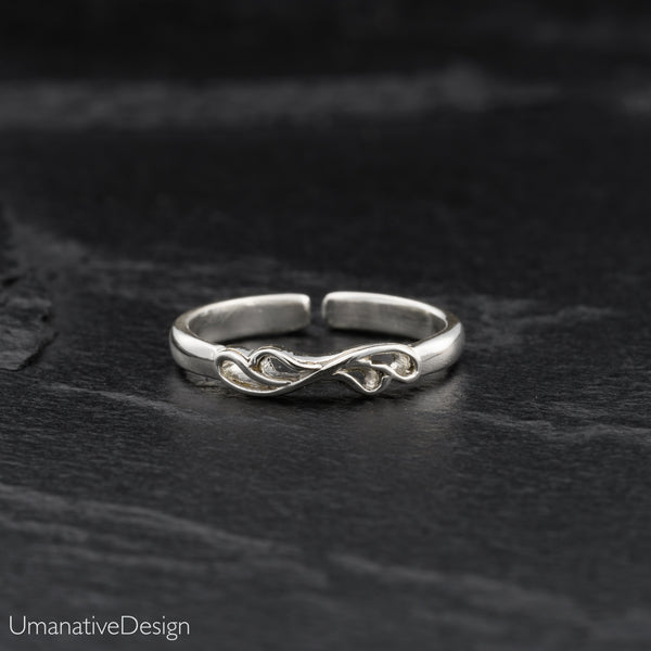 Tiny Sterling Silver Toe Ring