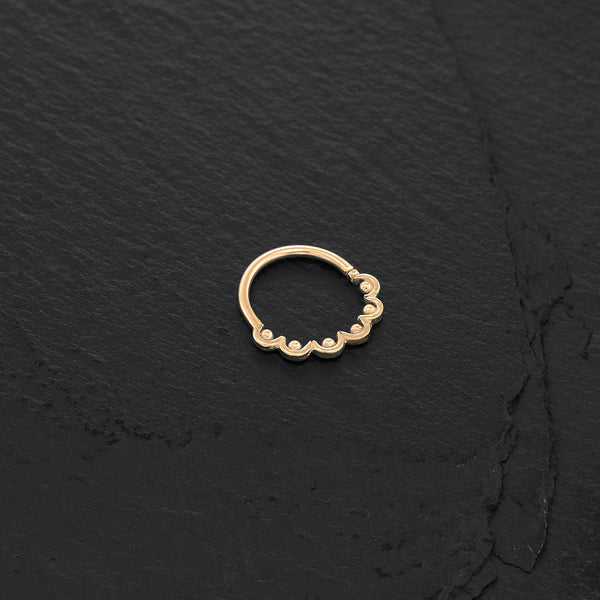 Tiny 14K Gold Plated Septum Ring