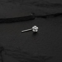 Silver Flower Nose Stud