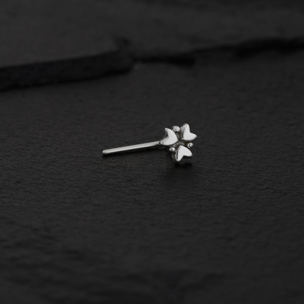 Sterling Silver Flower Nose Stud