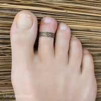 Flower Gold Toe Ring