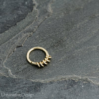 Tribal  Silver Septum Ring For Pierced Nose