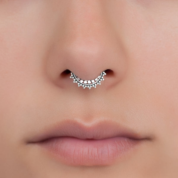 Tiny Fake Silver Septum Ring