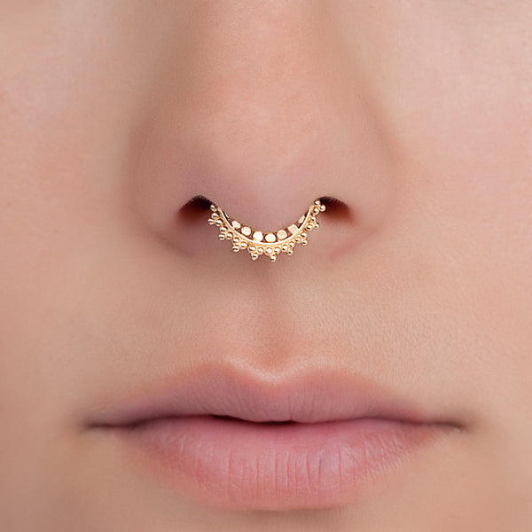 Tiny Gold Fake Indian Septum Ring