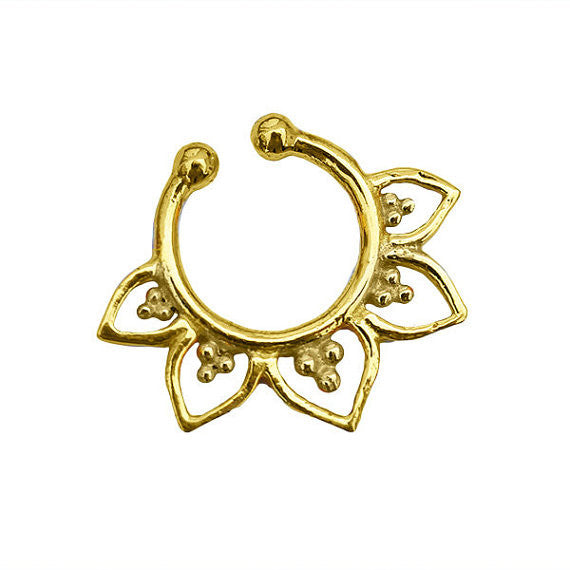 fake Brass Septum Ring. gold septum ring. indian septum ring. septum piercing. fake septum. septum jewelry. fake septum ring.
