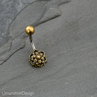 Flower Mandala Belly Button Ring