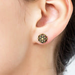 Flower Mandala Stud Earrings