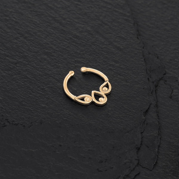 Dainty Gold Tribal Fake Septum Ring