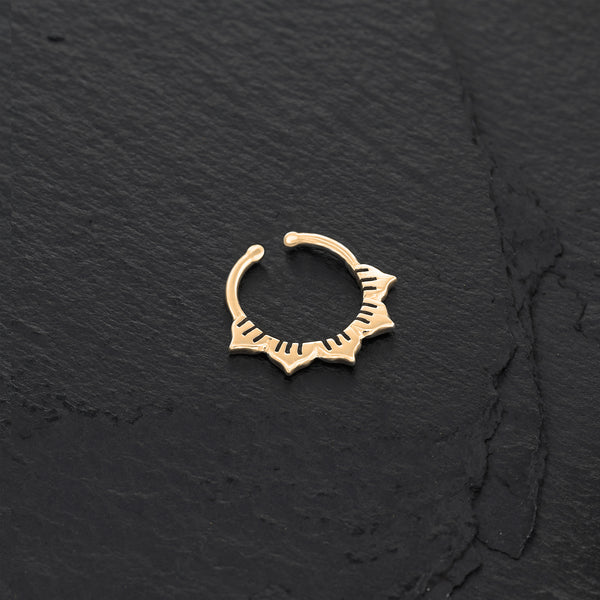 Minimalist Gold Faux Septum Ring