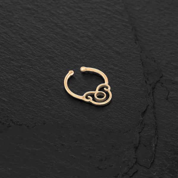 Small Gold Indian Faux Septum Ring