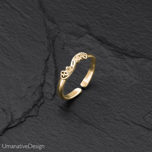 Tribal Brass Toe Ring For Woman