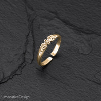 Minimalist Brass Toe Ring For Woman