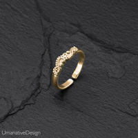 Minimalist Brass Toe Ring