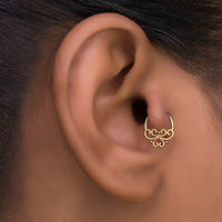 Gold Tribal Tragus Hoop Earring