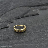 Carved Brass Nose Ring