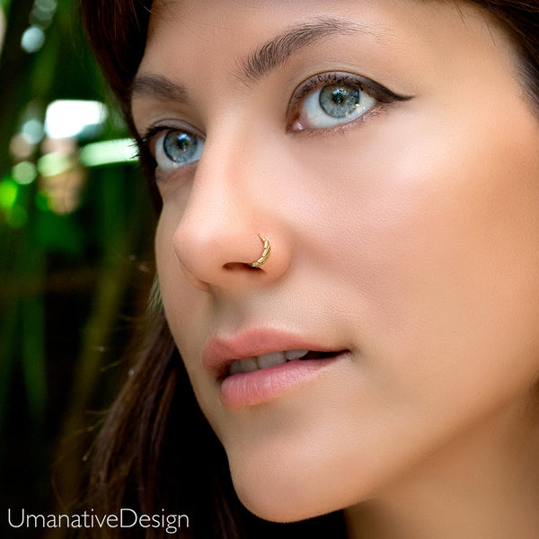 Tribal Curved Indian Nose Hoop Umanative Design