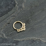 Tribal Gold Septum Ring For Pierced Nose