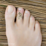 Adjustable Gold Toe Ring
