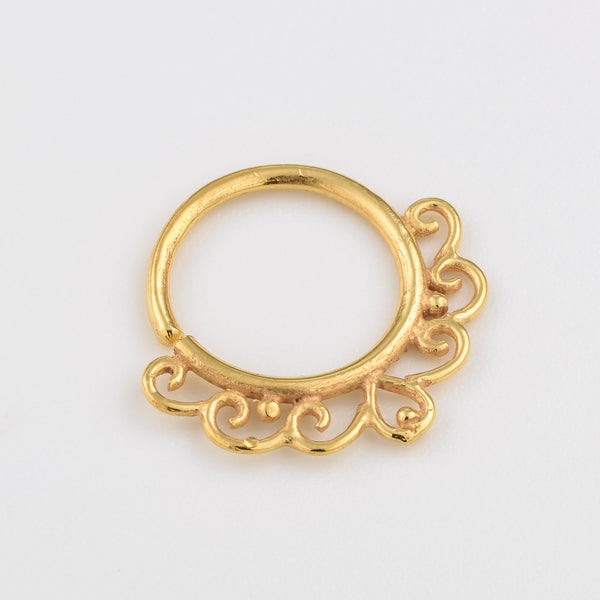 Gold Septum Ring. Indian septum ring. septum jewelry. tribal septum ring. septum piercing. silver septum ring. tragus earring