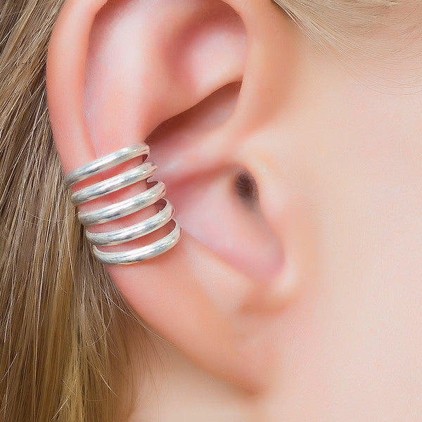 Silver Ear Cuff. boho earrings. ear cuffs earring. earcuff. bohemian jewelry. ear cuffs no piercing.